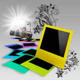 Blank colorful photo frames Stock Photography