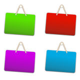 Blank colorful plastic sign Stock Images