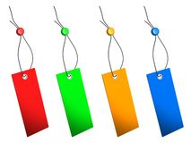 Blank colorful price tags set Stock Image