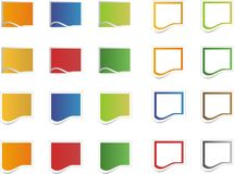 Blank colorful sticker icons Stock Image