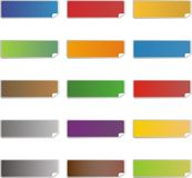 Blank colorful sticker icons Royalty Free Stock Image