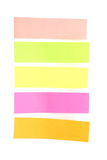 Blank colorful sticky notes ready for your text. Royalty Free Stock Photos