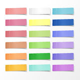 Blank colorful sticky notes set vector illustration