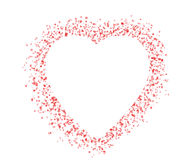 Blank colorful symbol valentine day heart shape for text isolate Royalty Free Stock Images