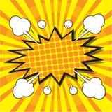 Blank comic speech bubble Stock Photos