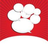 Blank comic speech bubble Stock Photo