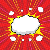 Blank comic speech bubble Royalty Free Stock Photo