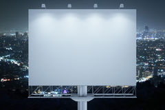 Blank commercial billboard night Stock Photography