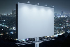 Blank commercial billboard side Stock Photography