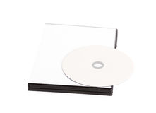 Blank compact disc mock up Royalty Free Stock Photography
