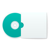 Blank Compact Disk with Cover Royalty Free Stock Photos