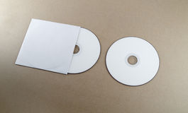 Blank compact disk Stock Image