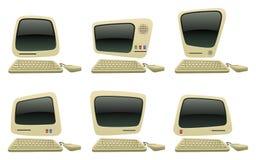 Blank Compute Icon Set Stock Image