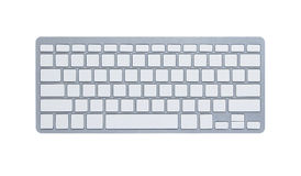 Blank computer keyboard with clipping path royalty free stock photography