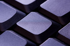Blank Computer Keyboard Key. Close up Stock Photo