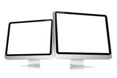 Blank Computer Screen Stock Photo