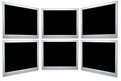 Blank computer screens stock image