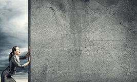 Blank concrete banner Royalty Free Stock Image