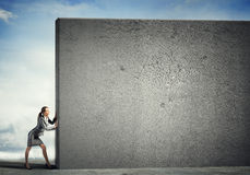 Blank concrete banner Royalty Free Stock Photography