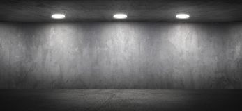 Blank Concrete Office Room Textured Wall Background