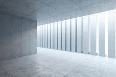 Blank concrete space interior Stock Photography