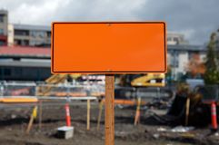 Blank construction sign Royalty Free Stock Image