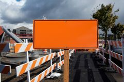 Blank construction sign Stock Image