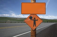 Blank construction sign Stock Photos