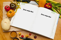 Blank cookbook Royalty Free Stock Images
