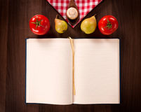 Blank cookbook Royalty Free Stock Photography
