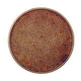 Blank copper coin Stock Photo