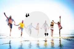 Blank Copy Space Holiday Quotation Mark Summer Concept Royalty Free Stock Images