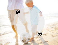 Blank Copy Space Holiday Quotation Mark Summer Concept Royalty Free Stock Photography