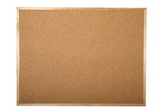 Blank cork board. Isolated on white background Stock Photography