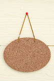 Blank cork board. Hang on the wall background Stock Photos