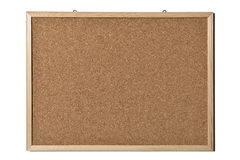 Blank cork board. Blank cork-board isolated white background Royalty Free Stock Photography