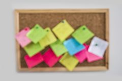 Blur Cork board. Blank cork board memoboard notes Stock Photography