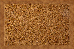 Blank Cork board with wooden frame. Cork texture stock illustration