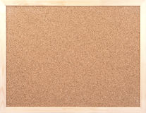 Blank Cork board with wooden frame Royalty Free Stock Images