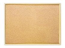 Cork pin board on white background Royalty Free Stock Photo