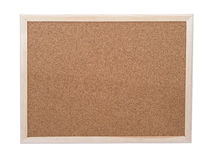 Blank corkboard. Isolated Stock Photos