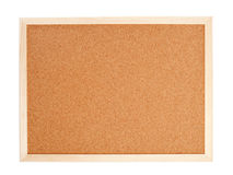 Blank corkboard with a wooden frame Royalty Free Stock Photos