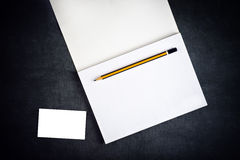 Blank Corporate Business Card and Notebook for Branding Stock Images