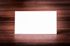 Blank corporate identity business card. Blank corporate identity business card on wood stock photos