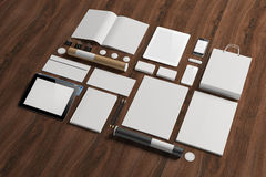 Blank corporate identity elements Stock Image