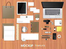 Blank corporate identity kit or mock up. Royalty Free Stock Photo