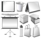 Blank corporate identity object set Stock Photography