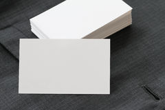 Blank corporate identity package business card with dark grey su Stock Images