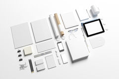 Blank corporate identity set template Stock Photography