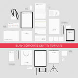 Blank corporate identity template. Royalty Free Stock Photo